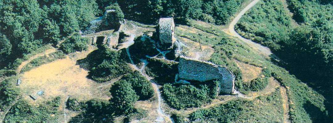 vue aerienne chateau de l'engelbourg thann