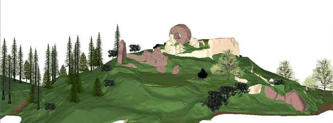 phpto modelisation 3d des ruines du chateau engelbourg Thann