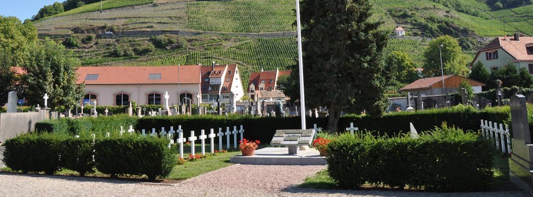 le carré militaire au cimetière communal