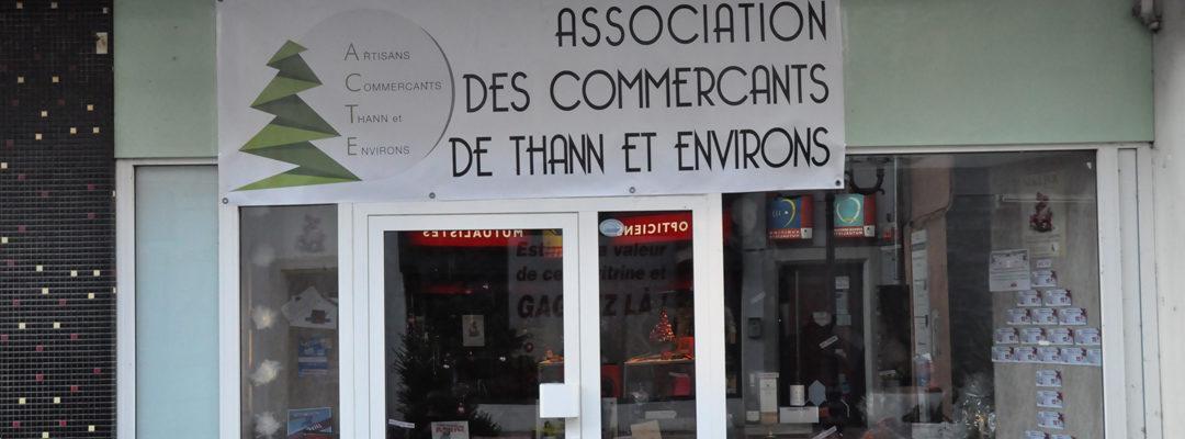 La vitrine de Noël des commerçants de Thann !