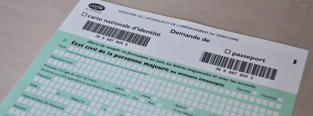 Demande, renouvellement carte d'identité et passeport