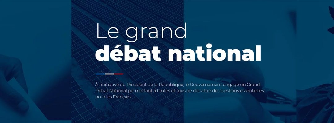 Tenue du Grand débat national
