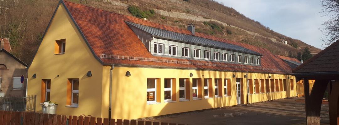 Travaux de rénovation de l'école du Kattenbach