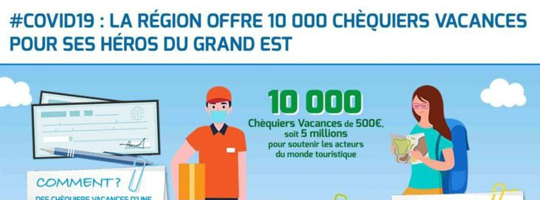 La Région Grand Est offre 10 000 chéquiers vacances de 500 euros