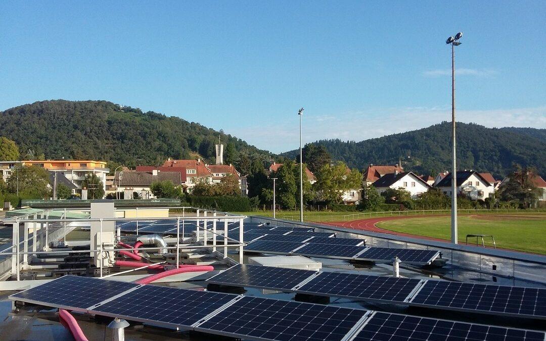 Mise en place de panneaux solaires au Stade Municipal